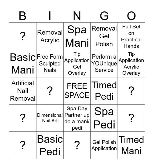 NAIL CARE Bingo Card