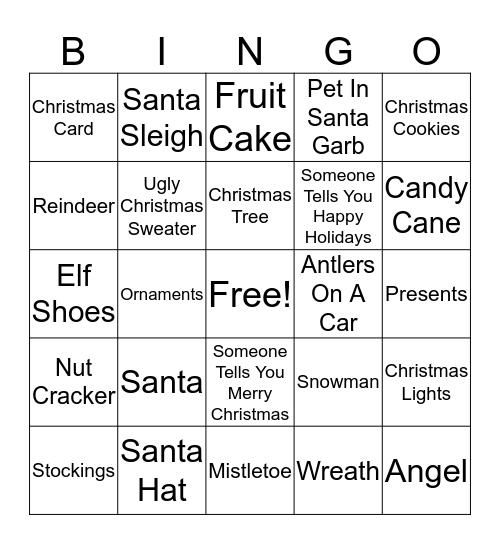 BC BINGO CHRISTMAS EDITION Bingo Card