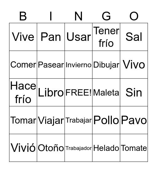 Bingo Review Bingo Card