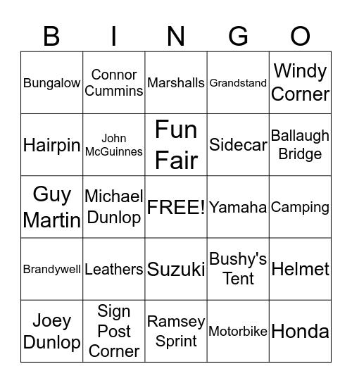 TT Bingo Card