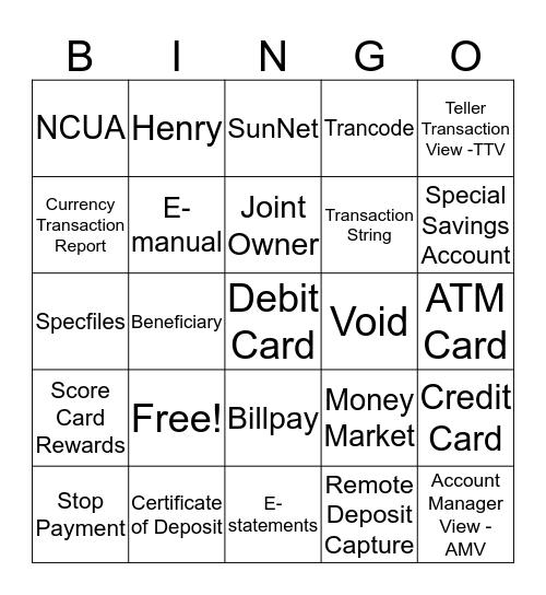 Member Advocacy Bingo Card