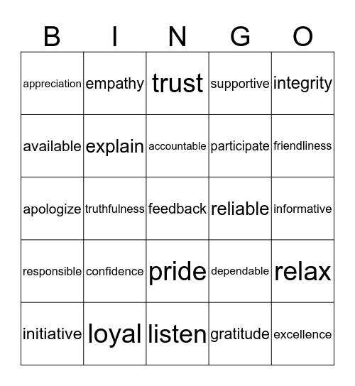 SRHS Financial Support Services Bingo Game Bingo Card